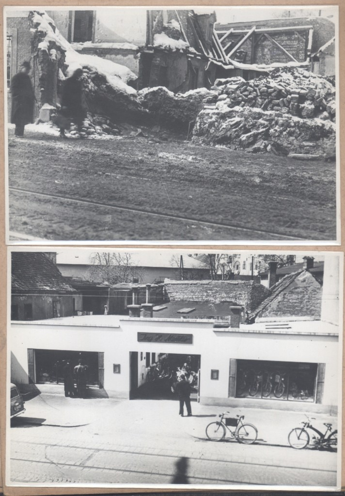 Werkstatt vorher und nachher