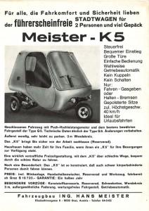 Meister K5 web